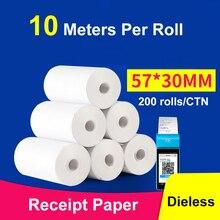 thermal paper 57x 30mm Cash register 58mm POS printer 10m long mobile bluetooth 10 rolls for Paperang & Peripage Mini Printer
