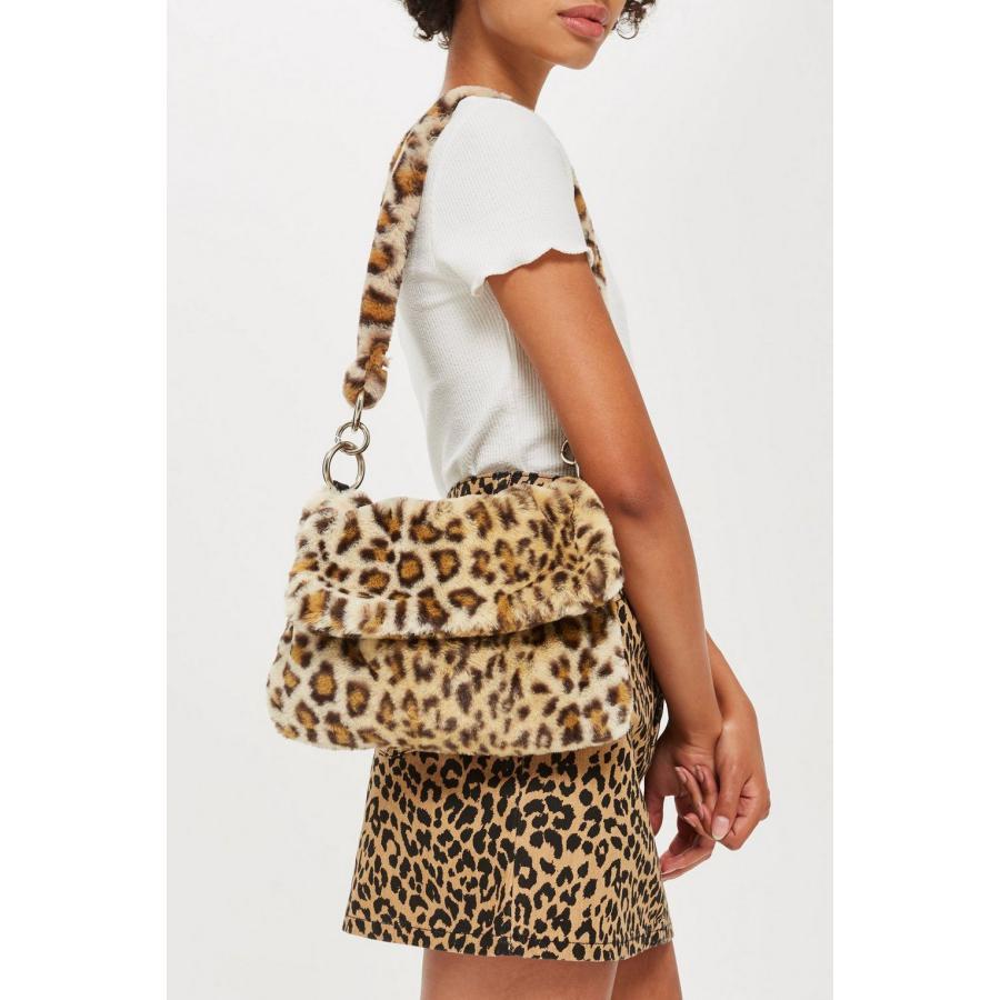 Женская меховая сумка с леопардовым принтом, женская зимняя теплая сумка через плечо, Большой Вместительный клатч от известного бренда, 2019|Сумки с ручками|   | АлиЭкспресс - Аналоги сумок с показов мод осень-зима 2020/21