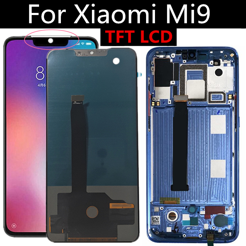 TFT LCD FOR <font><b>Xiaomi</b></font> MI 9 LCD <font><b>Display</b></font> Touch Screen Digitizer Assembly Replacement FOR <font><b>Xiaomi</b></font> <font><b>Mi9</b></font> LCD <font><b>Display</b></font> image