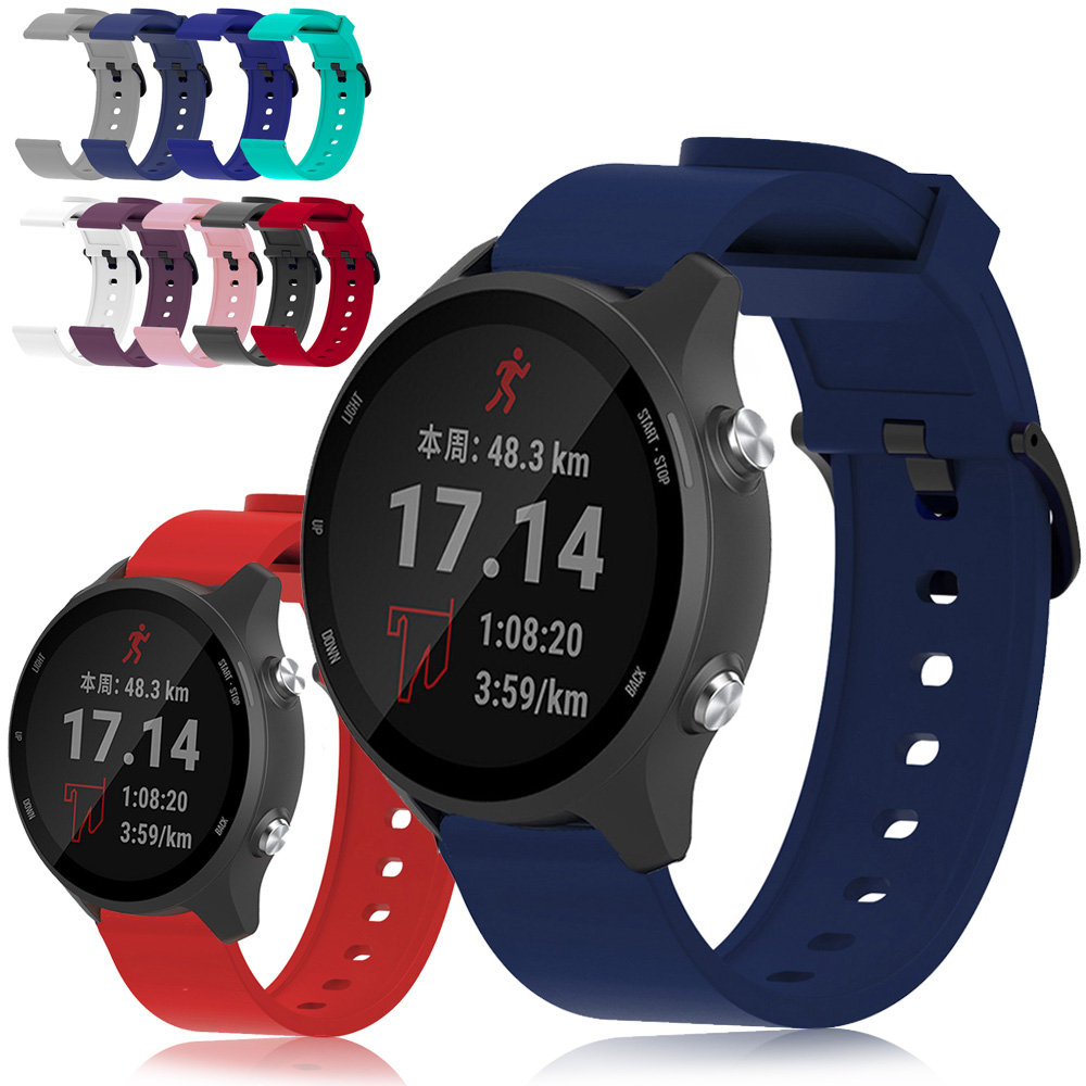 For Garmin Forerunner 245 245M Music 645 Silicone Watch Band Strap Bracelet 9 Colors Sport 20mm Watchband Vivoactive 3 Music