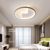Novas luzes de teto lâmpada AC90-260V moderna lâmpada do teto led superfície montado para o quarto estudo sala estar cinza + cor branca