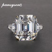 PANSYSEN bague de luxe en argent Sterling 925 pour femmes, imitation de la citronnelle, grande pierre précieuse, bijou fin, taille 5 12
