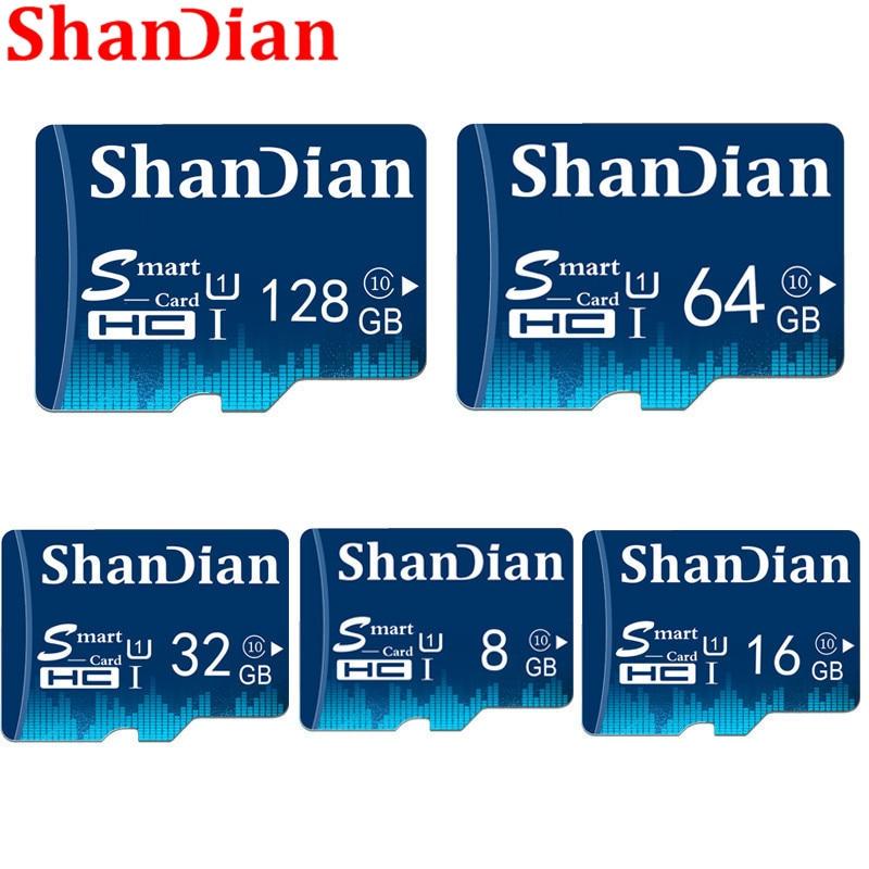ShanDian New Smart Sd Card 32GB 64GB 128GB Class10 Smartsd TF Card 16GB 8GB TF Memory Card External Disk For Smart Phone Camera