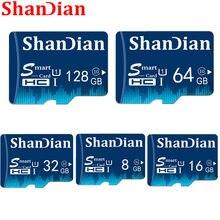 O cartão esperto novo de shandian sd 32gb 64gb 128gb class10 smartsd tf cartão 16gb 8gb tf cartão de memória disco externo para a câmera do telefone inteligente