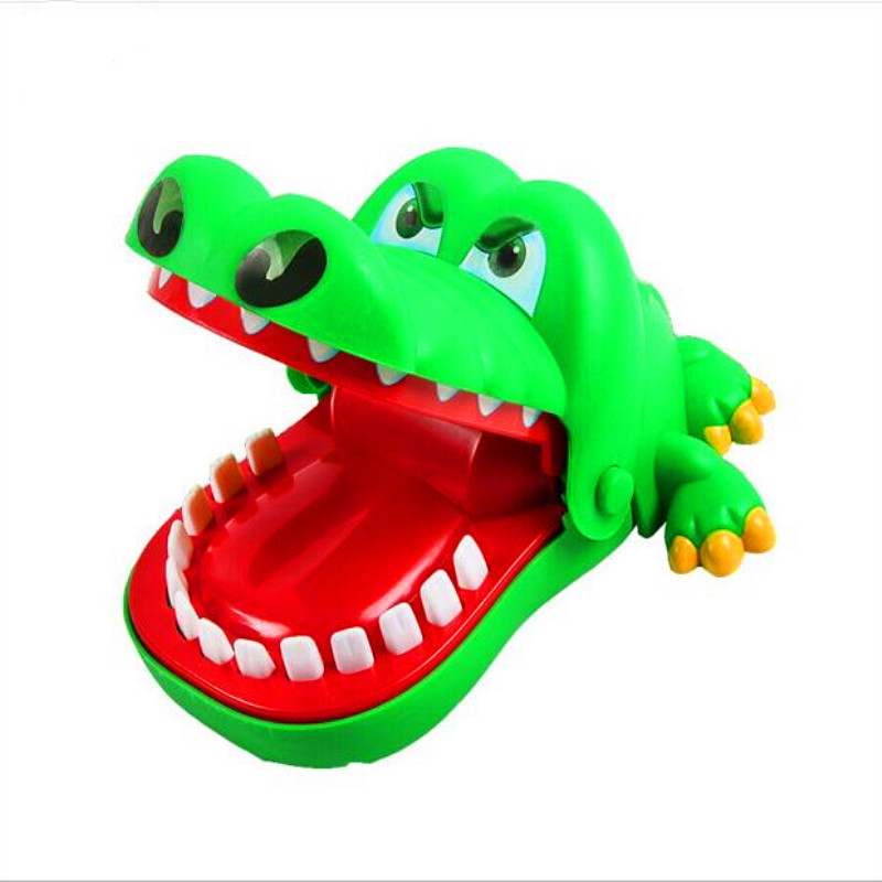 Children's Toys Practical Jokes Biting Crocodile Mouth Tooth Bite Hand Finger Alligator Bar Game Funny Gags Toy Gift For Kids image