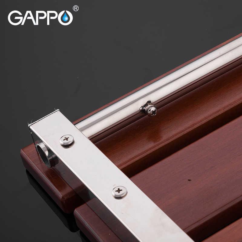 GAPPO マルチ型壁マウントシャワー席バスベンチシャワー折りたたみ椅子シャワー椅子浴室ツール木材ベンチ
