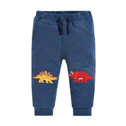 Осень-зима 2020, штаны для мальчиков с изображением животных, одежда для малышей, спортивные штаны с динозаврами для От 2 до 7 лет, штаны для мал...