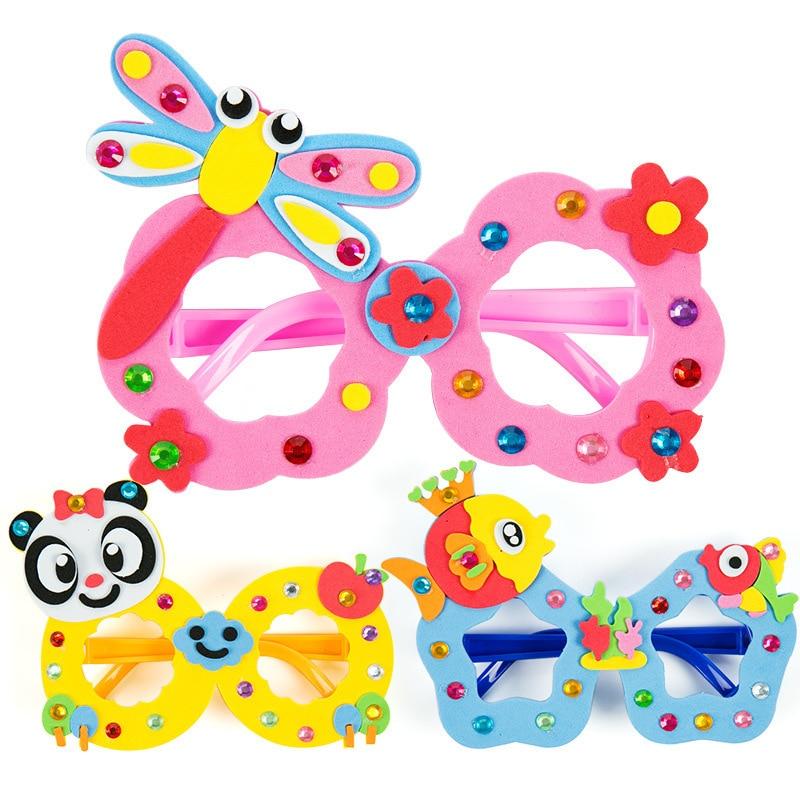 Creative DIY Glasses Baby Kids Children DIY Glasses Frame Educational Handmade Material Puzzles Crafts Toys For Infant Children