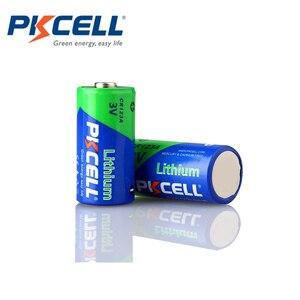 Image 2 - 12Pcs PKCELL 3V 배터리 CR123A CR123 123A CR17345 KL23a VL123A DL123A 5018LC EL123AP Li MnO2 리튬 배터리 LED 손전등