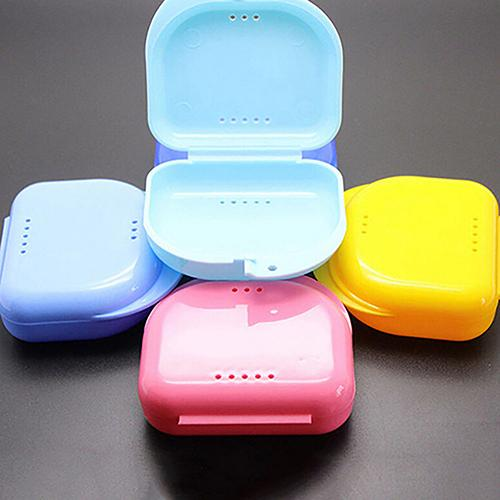 Plastic Denture Storage Case Dental Orthodontic False Tooth Retainer Box Container Denture Appliance Tray Toiletry Kits