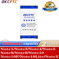 OKCFTC-batería de alta calidad para Samsung Galaxy Note 1, 2, 3, 4, 5, 8, 9, 10, + Note10X Note10, Lite, regalos y herramientas
