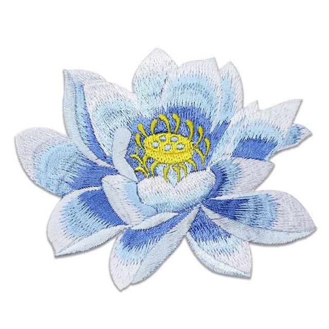 Купить аппликация для одежды lotus на заказ вышитая нашивка с цветами картинки цена