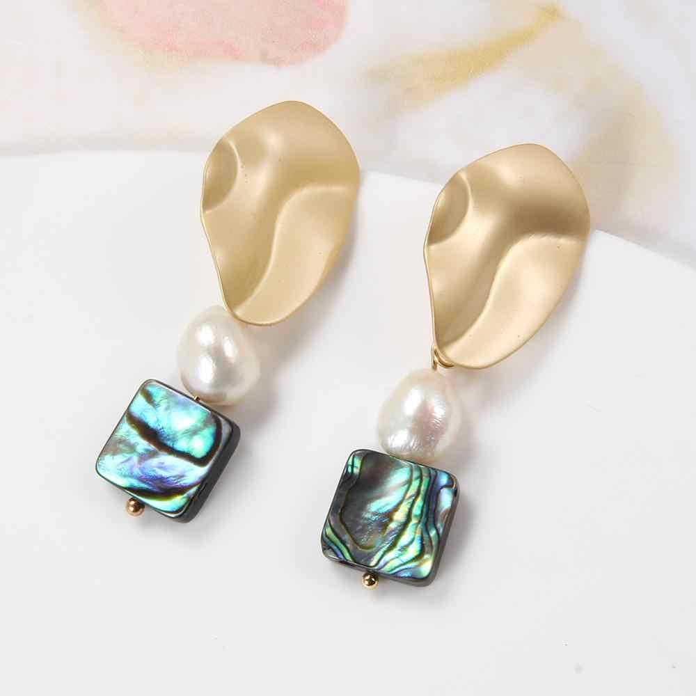 Siedem dziewczyna nowy 2019 perła spadek kolczyki naturalna perła słodkowodna kolczyki dla kobiet Party barokowe kolczyki moda Jewelr