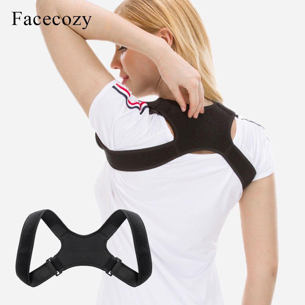Facecozy postura corrector ombro costas apoio coluna bandagem postura ajustável clavícula coluna lombar superior cinto de correção