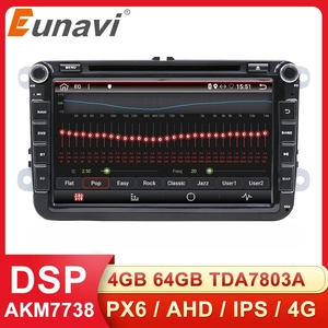 Image 1 - Eunavi 8 2 דין אנדרואיד dvd לרכב רדיו עבור פולקסווגן פולקסווגן פולו ג טה פאסאט b6 b7 cc פאביה טוראן גולף 6 Tiguan rns510 GPS DSP BT