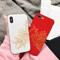 Funda de TPU mate para IPhone, Funda de moda suave, rosa dorada para IPhone 12 11 Pro Max mini 6S 7 8 Plus X XR XS MAX SE 2