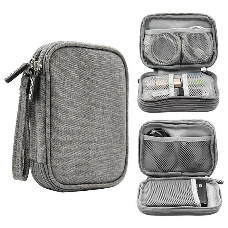 Electronic Accessories Cable USB Organizer Storage Bag Case Drive Travel Holder