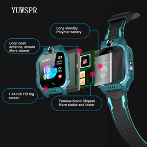 """Image 5 - Tracker Children Smart Watches Waterproof LBS Positioning 1.44"""" Touch Screen Camera Fashlight IOS Android Kids Smart Clock Q19"""