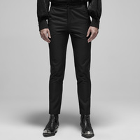 PUNK RAVE Men's Gothic Embroidered Plain Trousers Formal Occasion Party Evening Dinner Suit Pants