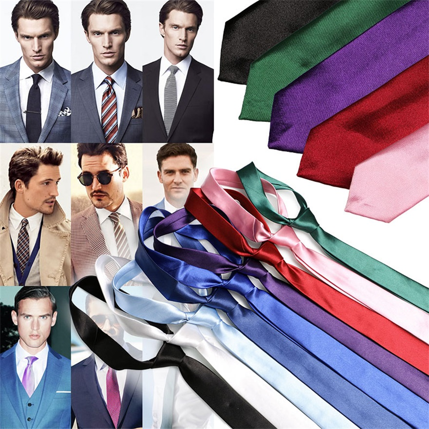 Pre-tied Neck Tie Multicolor Smooth Classic Silk Polyester Man's Business Luxury Tie Necktie Bridegroom Party Dress Necktie Mens