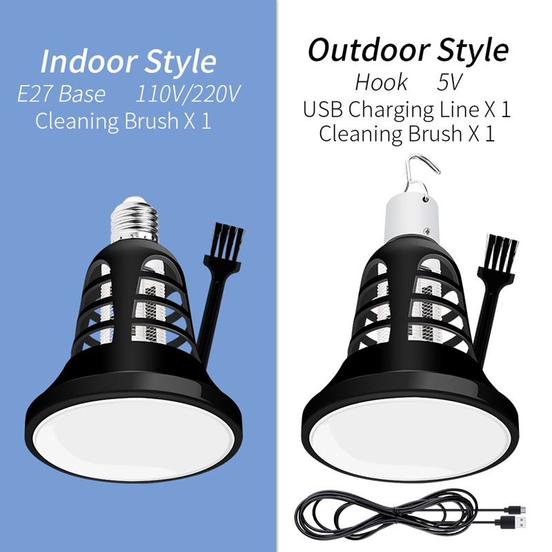 220V E27 FÜHRTE Moskito Mörder Lampe USB 8W 2 In 1 LED UV Lampe Outdoor Moskito Falle Anti Abweisend fly Bug Insekt Elektrische Mörder