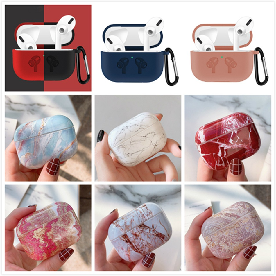 Wireless Earphone Case For Apple Airpods Pro Case Marble Headphone Cover Silicone For Air Pods Pro 3 Case Earpods Accessory Ring