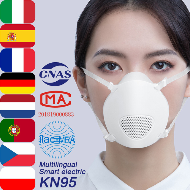 $  Z01 Professional Brand Smart Face Electric Mask KN95 High Quality,Mouth Breathing Protection Filter Virus Dust PM2.5,Reusable