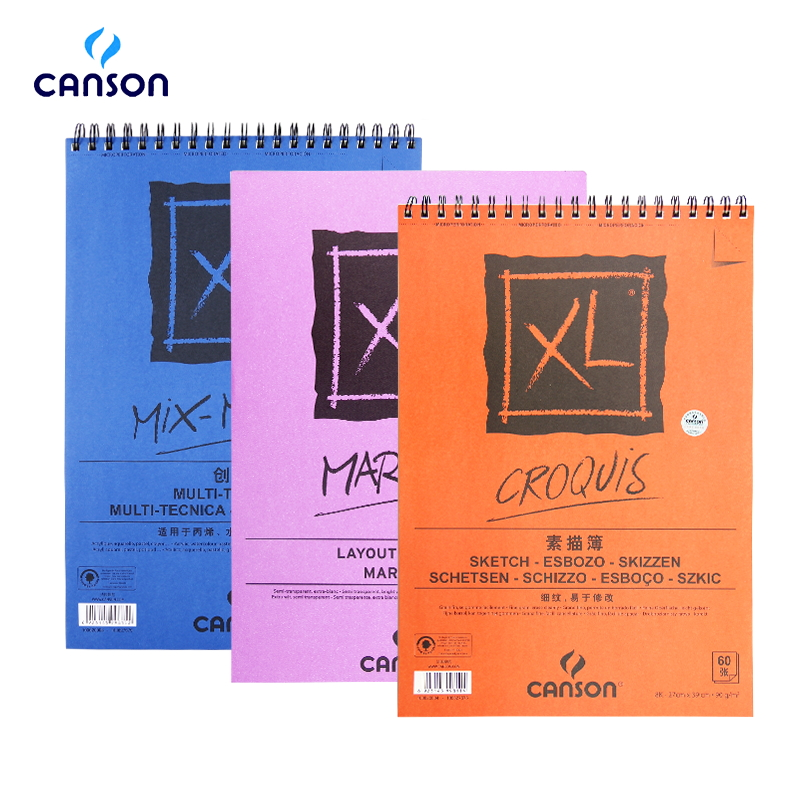 Canson XL Watercolor Paper Sketching Books Drawing Paper Acrylic Painting Colored Pencil Painting  A4 16K For Artist Student