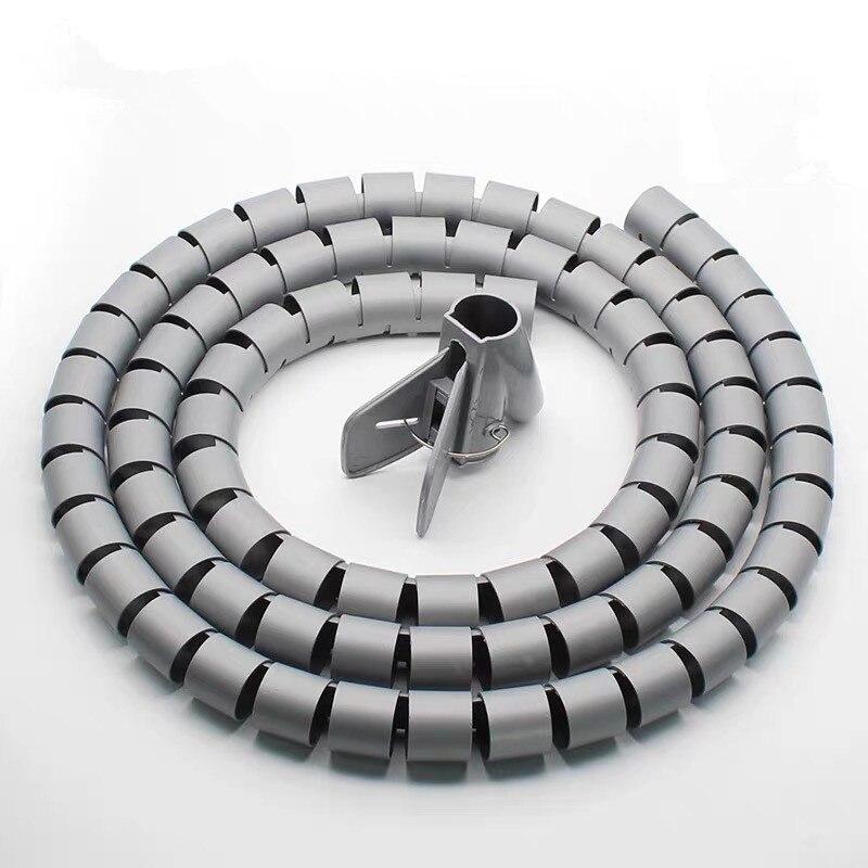 1 метр кабельный провод обертывание Организатор спиральная трубка кабель намотки шнур протектор гибкое управление провода хранения трубы