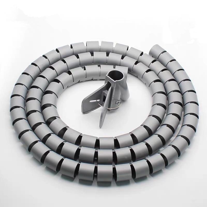Organizador de cabos em espiral, protetor de cabos de cabo de 1 metro