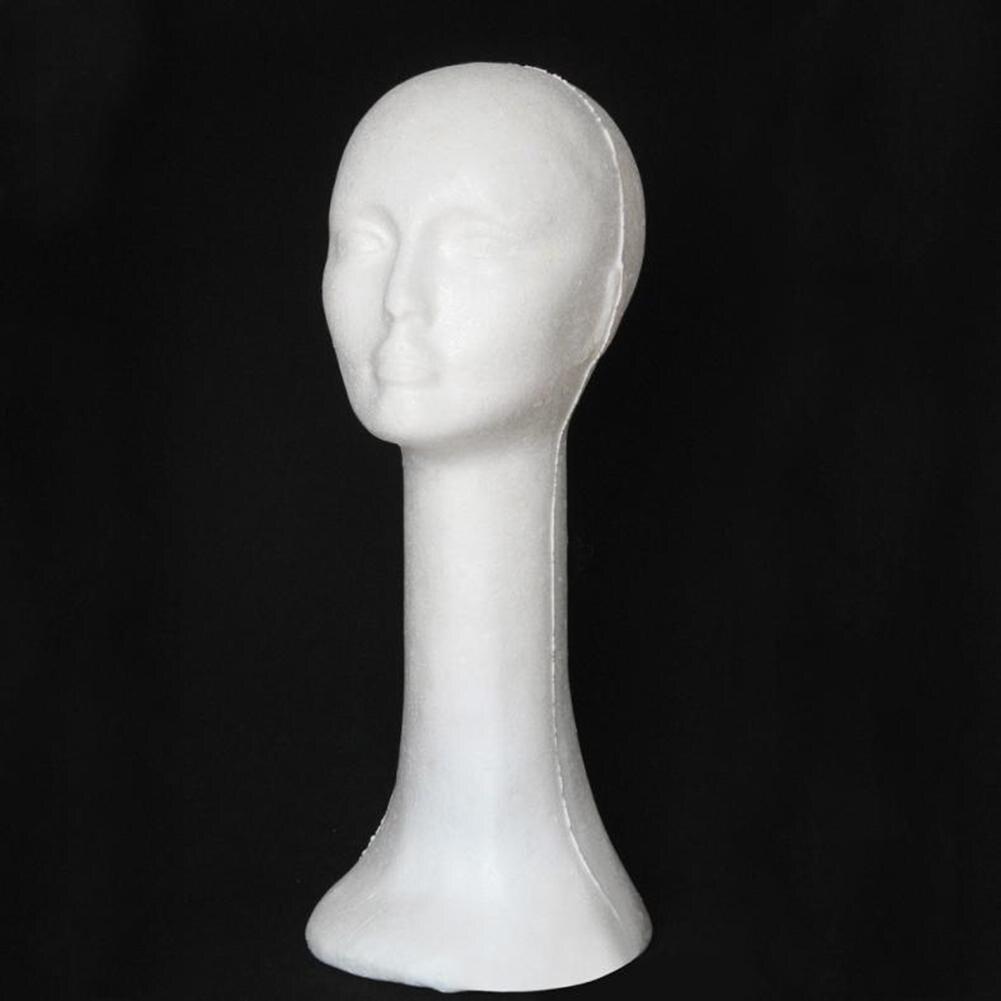 Schaum Weibliche Menschlichen Kopf Langen Hals Mannequin Perücke Hut Gläser Display ständer Modell Ausbildung Kopf      -