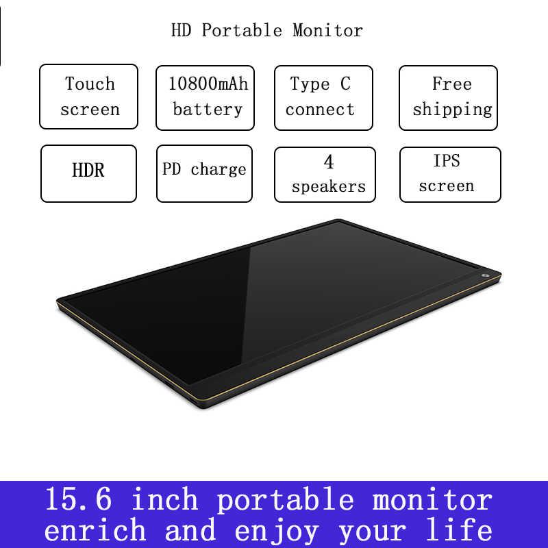 المحمولة شاشة عرض ألعاب IPS شاشة تعمل باللمس بنيت في بطارية الألعاب عرض لهواوي وأجهزة الكمبيوتر المحمولة xboxswitch ps4 مع typeC HDMI