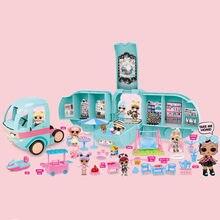L. o. l. Surpresa! 2-em-1 glamper moda campista com 22 + surpresas o carro de bonecas lol o melhor presente para crianças