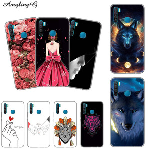 TPU+PC Case For Infinix Hot S4 S5 X652 X626 X627 Smart 3 Plus Print Case Rose Wolf Patterned Cover Phone Back Shell Fundas Para
