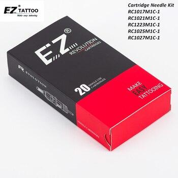 100 pcs Assorted EZ Revolution Cartridge Tattoo Needles Kit Curved Magnum Tattoo Needles for Cartridge Tattoo Machine Grips