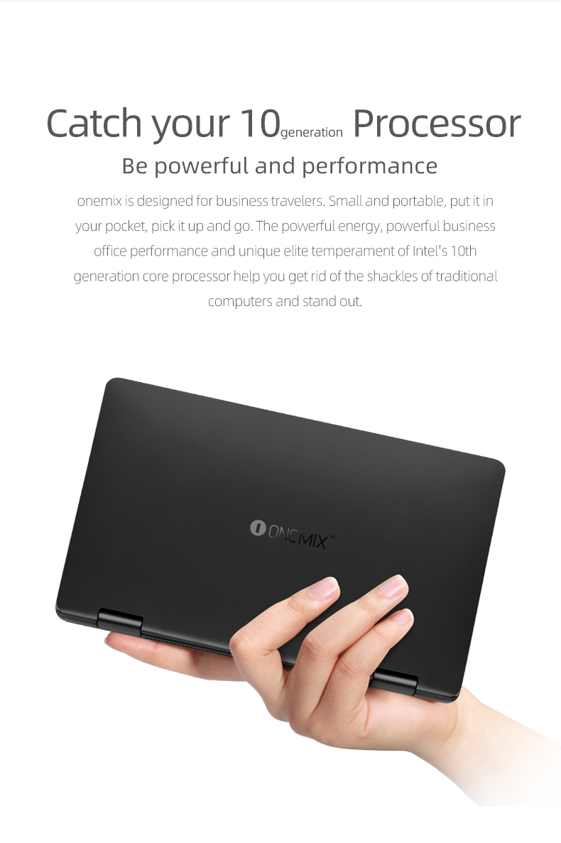 2020 New Laptop One Netbook OneMix 3Pro Notebook 8.4'' Win10 Core i5-10210Y 16GB RAM 512GB PCIE SSD Dual WiFi Type-C HDMI