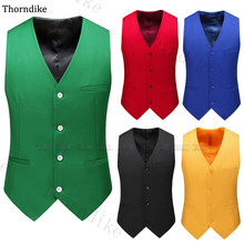 Suit Vest Blazer Wedding Waistcoat Slim-Fit Men's Solid Thorndike for Sleeveless 15-Colors
