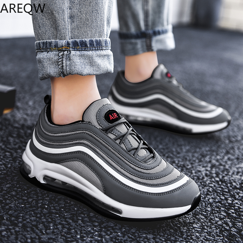 2020 Autumn New Men's Shoes Air Cushion Damping Mens Sneakers Casual Flying Woven Breathable Men Shoes