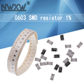 100 шт. 0603 SMD 1/10 Вт чиповый резистор 1% ~ 10 м 0R 4K7 10 1K 4,7 K 100K 1 10 100 220 330 Ом 0R 1R 10R 100R 220R 330R