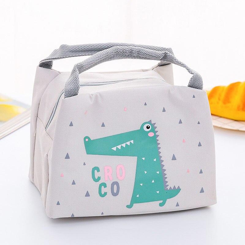 Новая сумка для хранения детского питания, бутылки с молоком, изоляционные сумки, водонепроницаемая сумка с лисой, сумка для обеда, детская теплая Термосумка для еды - Цвет: Gray 2