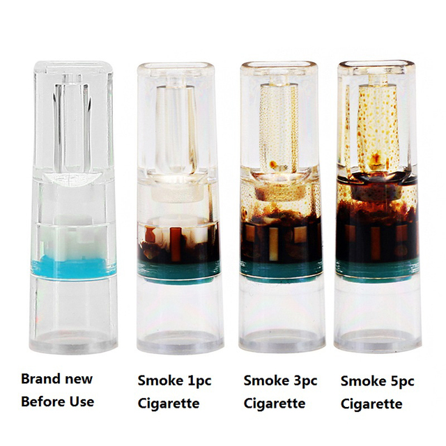 100pcs Healthy Disposable Smoking Filter Pipe Tobacco Cigarettes Reduce Tar Filter Holder Cleaning Container Smoking Accessories 1