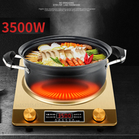 Golden Concave Induction Cooker High power Special Commercial Household Fried Concave Stove with Pot