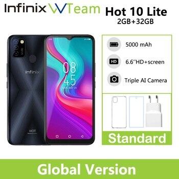Infinix HOT 10 LITE Global Version 2GB 32GB Smart Phone 6.6''HD 1600*720P 5000mAh Battery 13MP Camera Helio A20 1