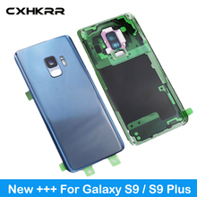цена на For Samsung Galaxy S9 Plus s9+ Back Battery Cover G965 SM-G965F G965FD S9 G960 SM-G960F G960FD Back Rear Glass Case