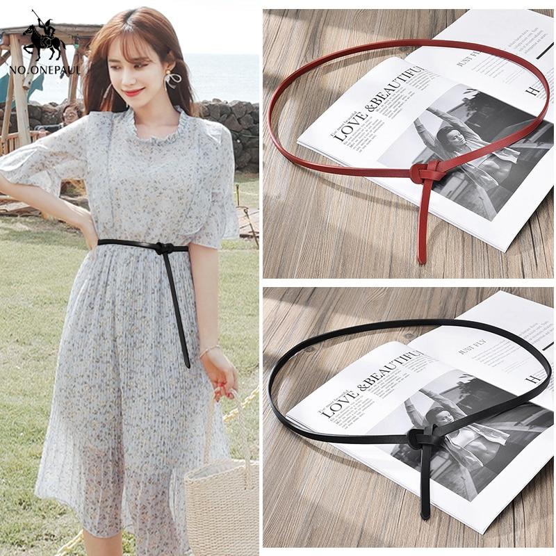 NO.ONEPAUL Simple Dress Decorated Ladies Leather Fashion Elegant Belt Fashion Designer Design Slim Waist High Quality New Belt