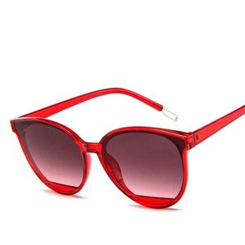 2020NEW Classic Oval Red Cat Eye Sun Glasses Women Sunglasses Female Vintage Luxury Plastic Brand Designer UV400 Fashion Oculos цена 2017