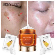 Breylee vitamina c clareamento creme de rosto reparação fade sardas remover manchas escuras anti envelhecimento rugas clareamento ha creme facial 40g