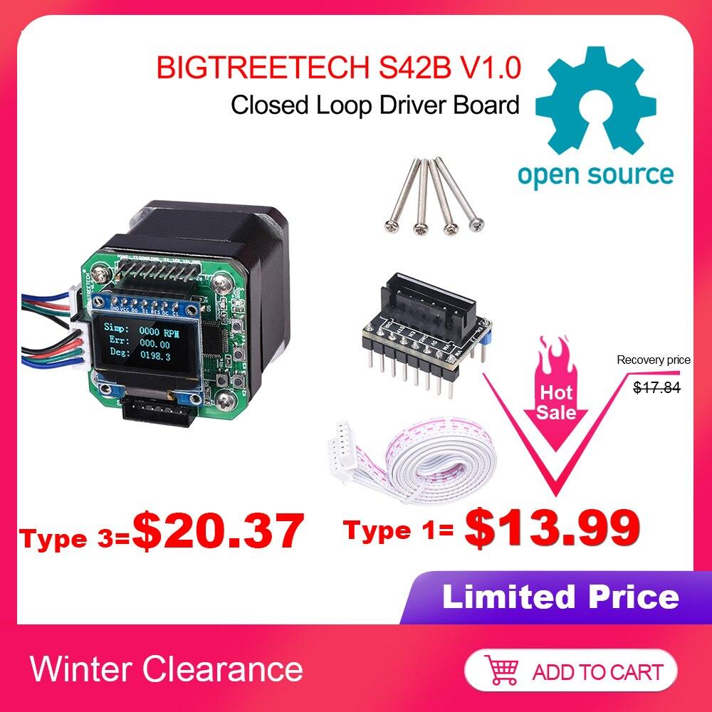 BIGTREETECH S42B V1.0 Closed Loop Driver Control Board 42 Stepper Motor OLED 3D Printer Parts For Ender 3 SKR V1.3/1.4 VS S42A