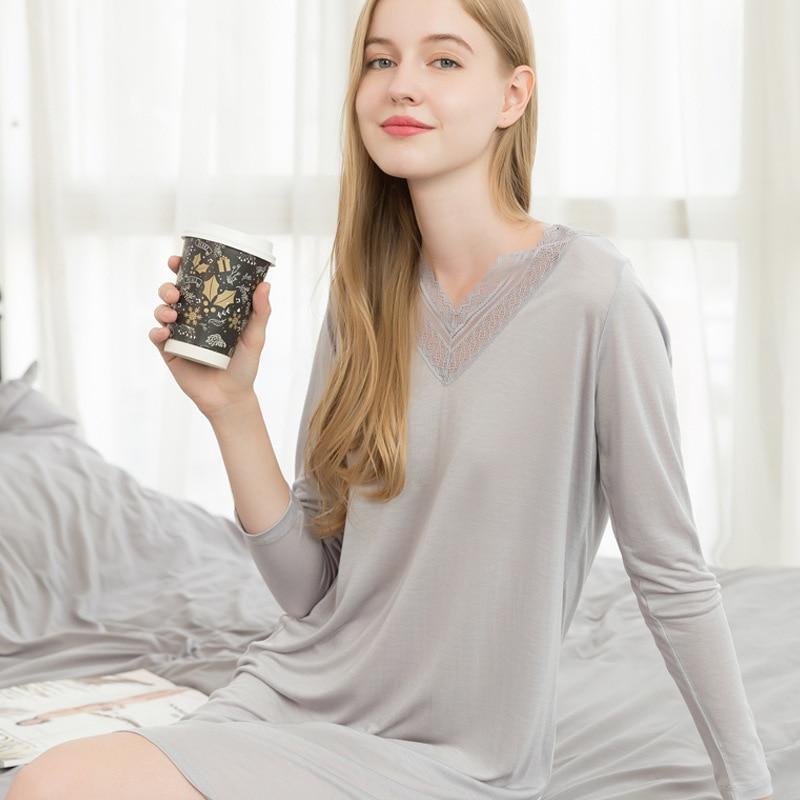 Pink Nightgown Simple Ladies Sleepwear Women Satin Sexy Lingerie Lace Casual Night Dress Pijamas Women Summer Plus Size Homewear