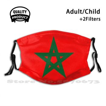 Morocco , Moroccan Flag Face Mask With Filter Morocco Marrakech Tagine Travel Africa Tourism Holiday Sahara Kingdom Of Morocco image